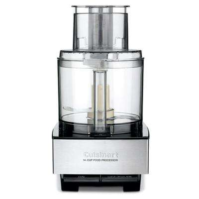 Brushed Stainless and Black Series Custom 14 Cup Food Processor