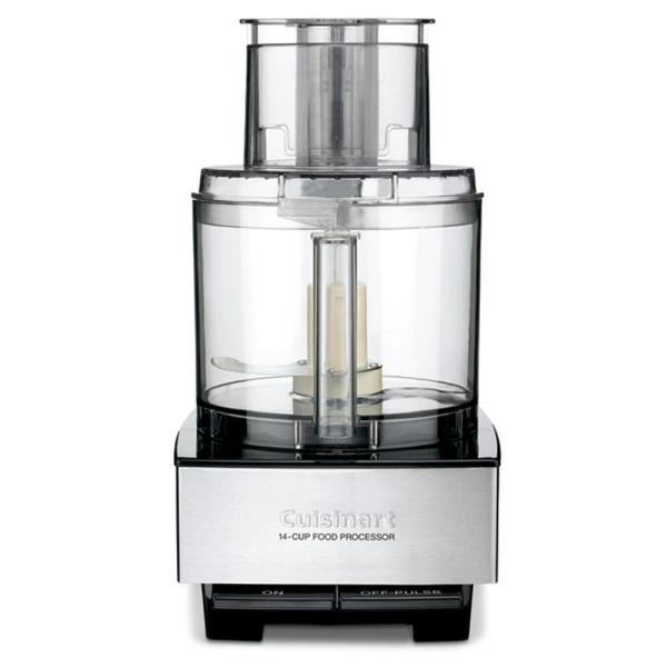 Cuisinart Custom 14-Cup 2-Speed Brushed Black Stainless Steel Food Processor