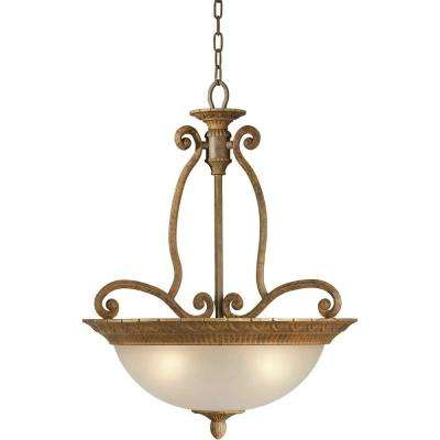 Burton 4-Light Chestnut Incandescent Pendant