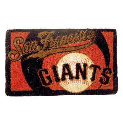 MLB 18 in. x 30 in. San Fransisco Giants Bleached Welcome Mat