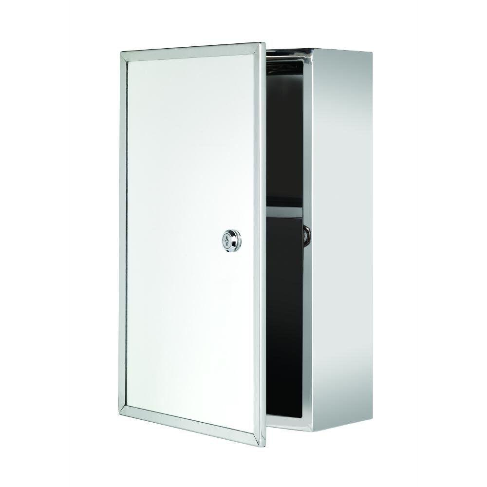 Croydex T 15 3 4 In H X 9 21 25 W 5 D Framed Lockable Surface Mount Bathroom Medicine Cabinet Only Wc846005yw The Home Depot