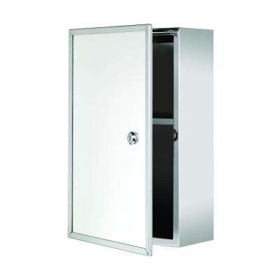 Trent 15-3/4 in. H x 9-21/25 in. W x 5-3/25 in. D Framed Lockable Surface-Mount Bathroom Medicine Cabinet Only