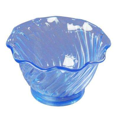 5 oz. SAN Plastic Tulip and Berry Dish in Ice Blue (Case of 24)