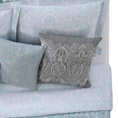 Ombre Lace Blue 18 in. Square Pillow