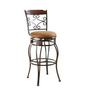 ACME Tavio 29 inch Black Gold Brush Swivel Cushioned Bar Stool (Set of 2) by ACME