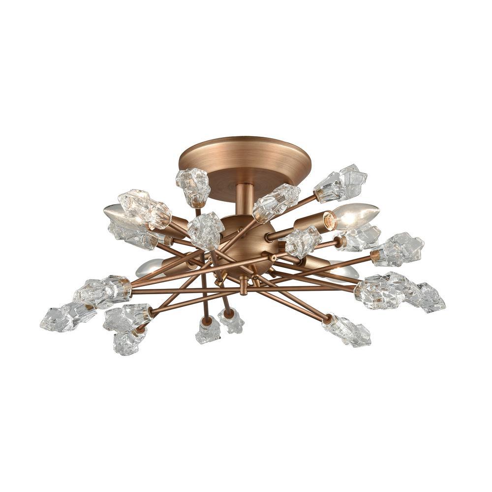 Titan Lighting Serendipity 4-Light Matte Gold With Clear
