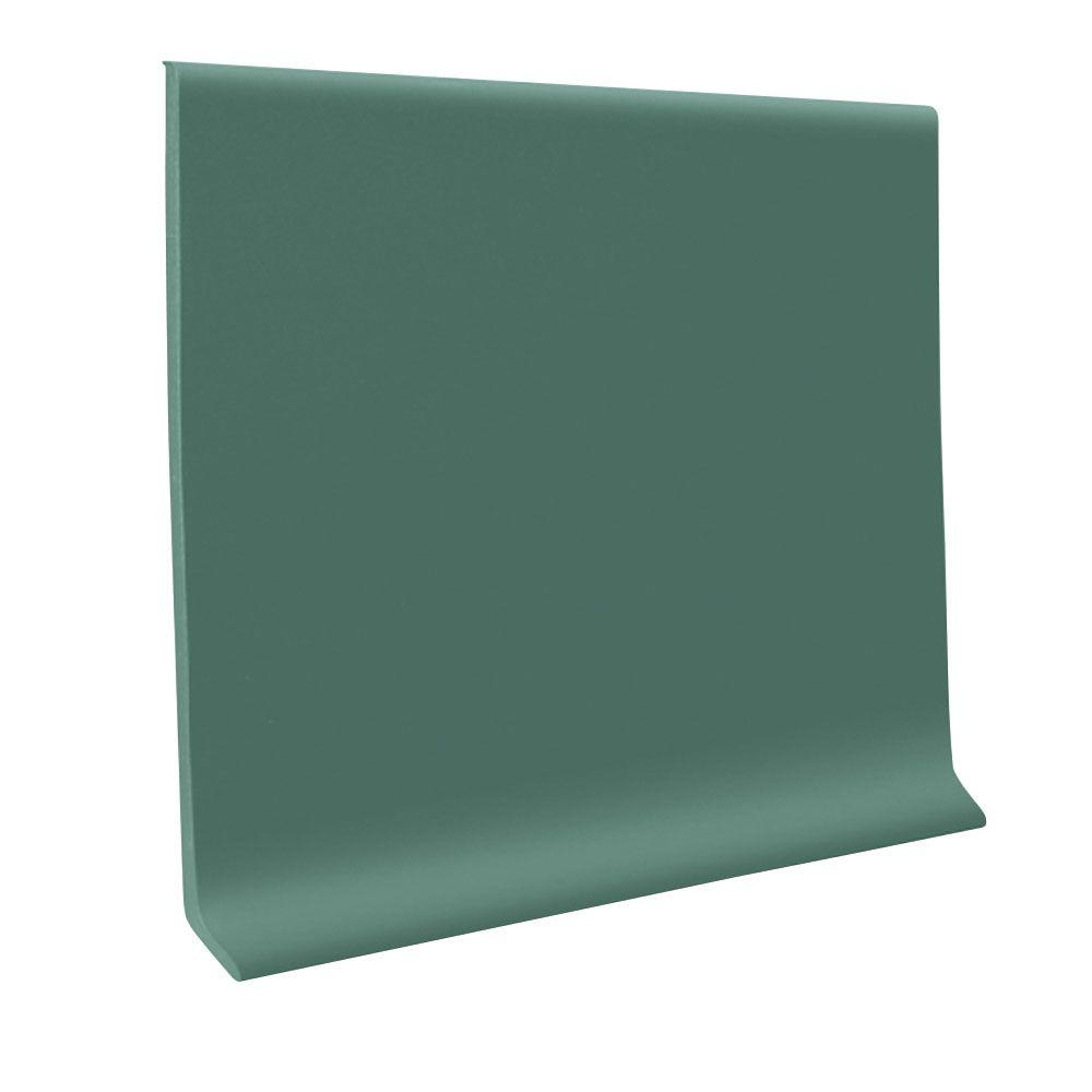 ROPPE 700 Series Hunter Green 4 in. x 48 in. x 1/8 in. Thermoplastic Rubber Wall Cove Base (30-Pieces)