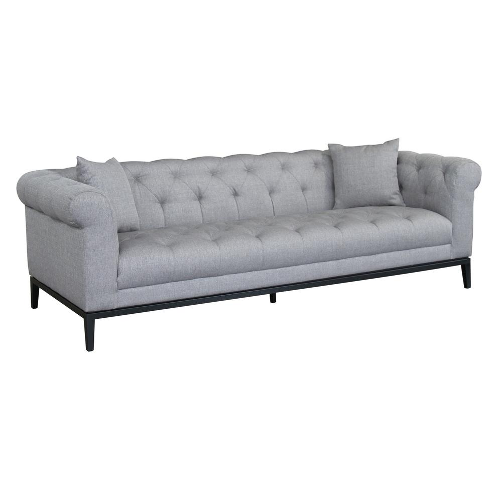 Theron Grey Fabric Sofa