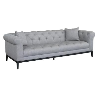 Armen Living Glamour Grey Fabric Sofa