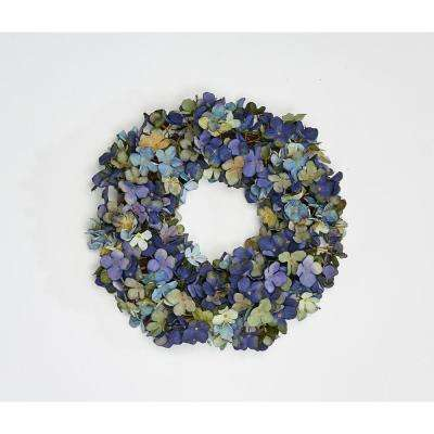 15 in. Hydrangea Wreath on Twig Base