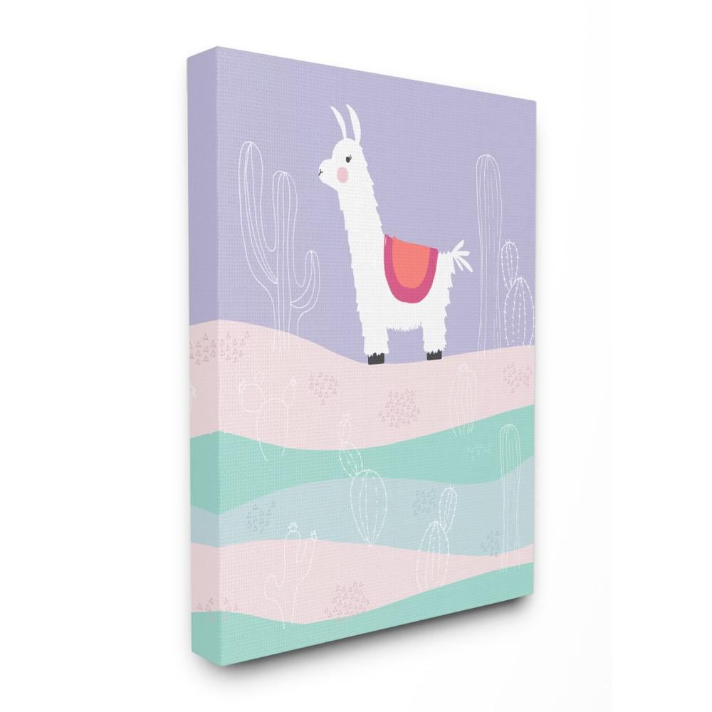 the kids room by stupell 24 in x 30 in llama in the pastel desert rh homedepot com Bedroom Canvas Bedroom Canvas