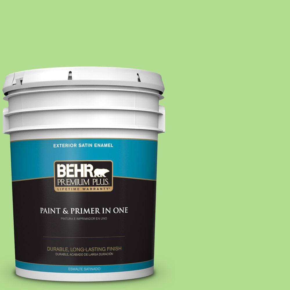 5 gal. #MQ4-46 Early Spring Satin Enamel Exterior Paint and Primer