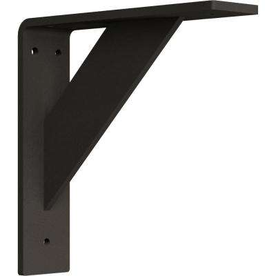2 in. x 8 in. x 8 in. Steel Hammered Dark Bronze Traditional Bracket