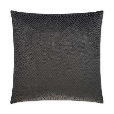 Flex Charcoal Feather Down 24 in. x 24 in. Standard Decorative Throw Pillow