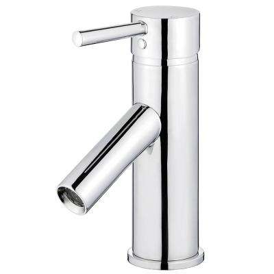 Malaga Single Hole Single-Handle Bathroom Faucet with Overflow Drain in Polished Chrome