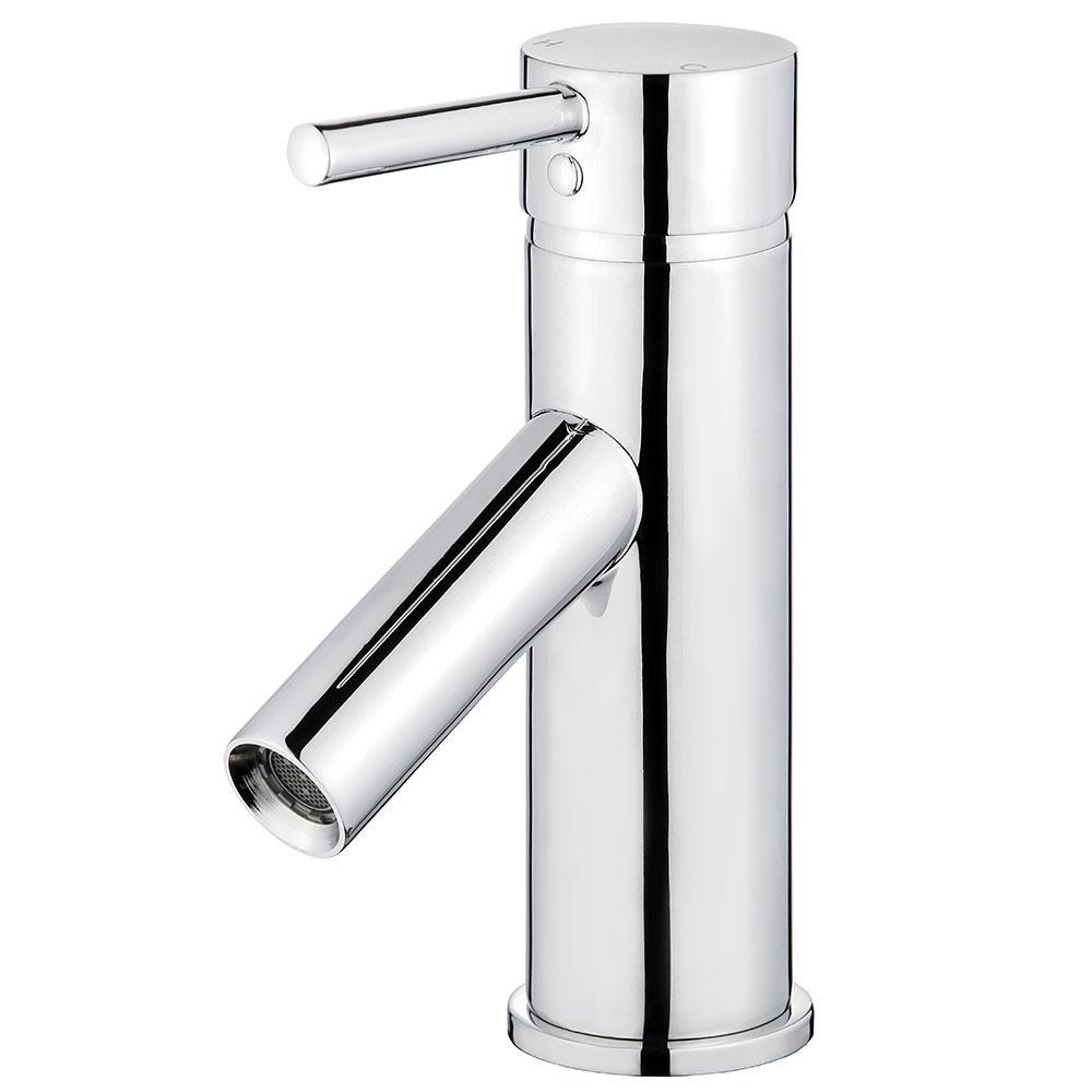 Malaga Single Hole Single-Handle Bathroom Faucet with Overflow Drain in Polished Chrome
