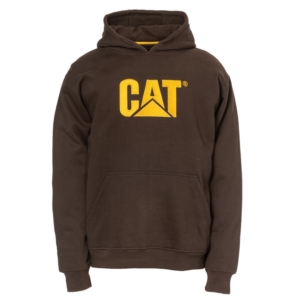 0860ea538 Caterpillar Trademark Men's Size Large Dark Earth Cotton/Polyester Hooded  Sweatshirt