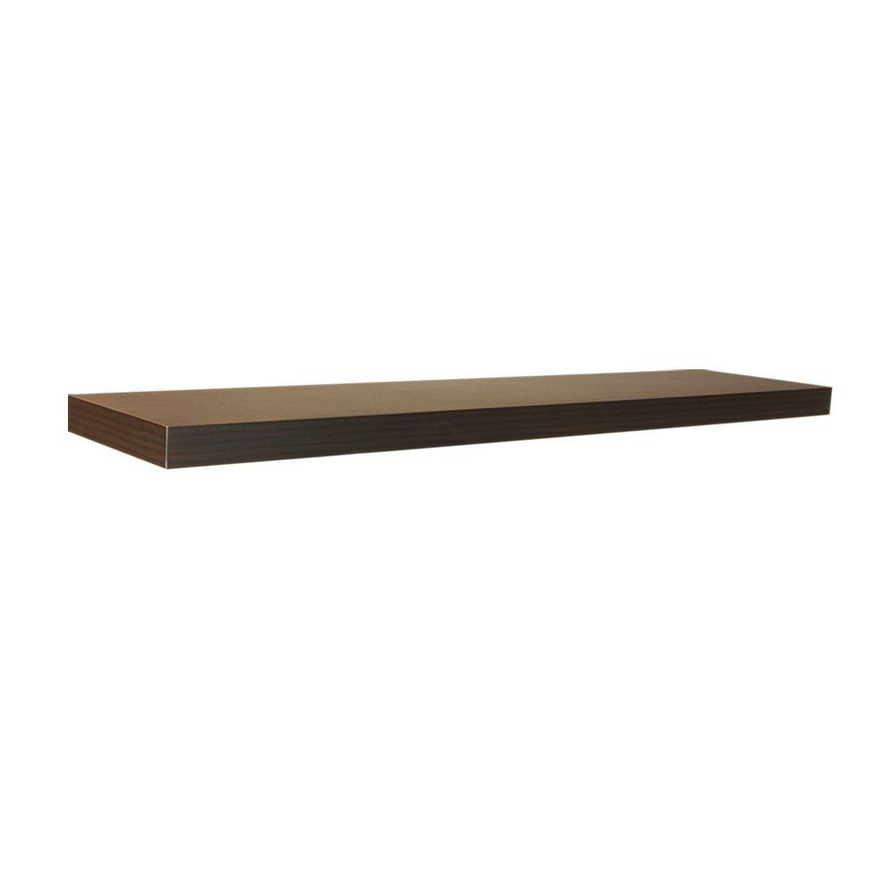 Home Decorators Collection 42 In W X 10 D Floating Espresso Shelf