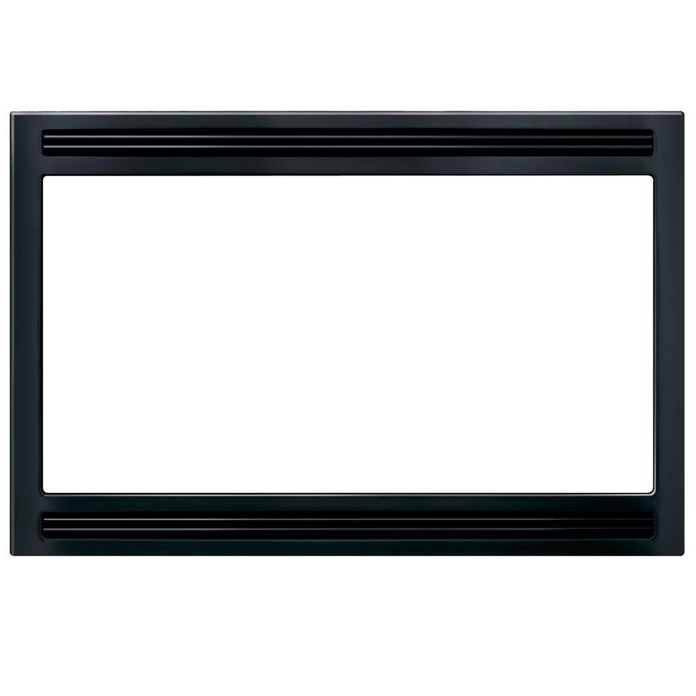 27 in. Trim Kit for Built-In Microwave Oven in Black