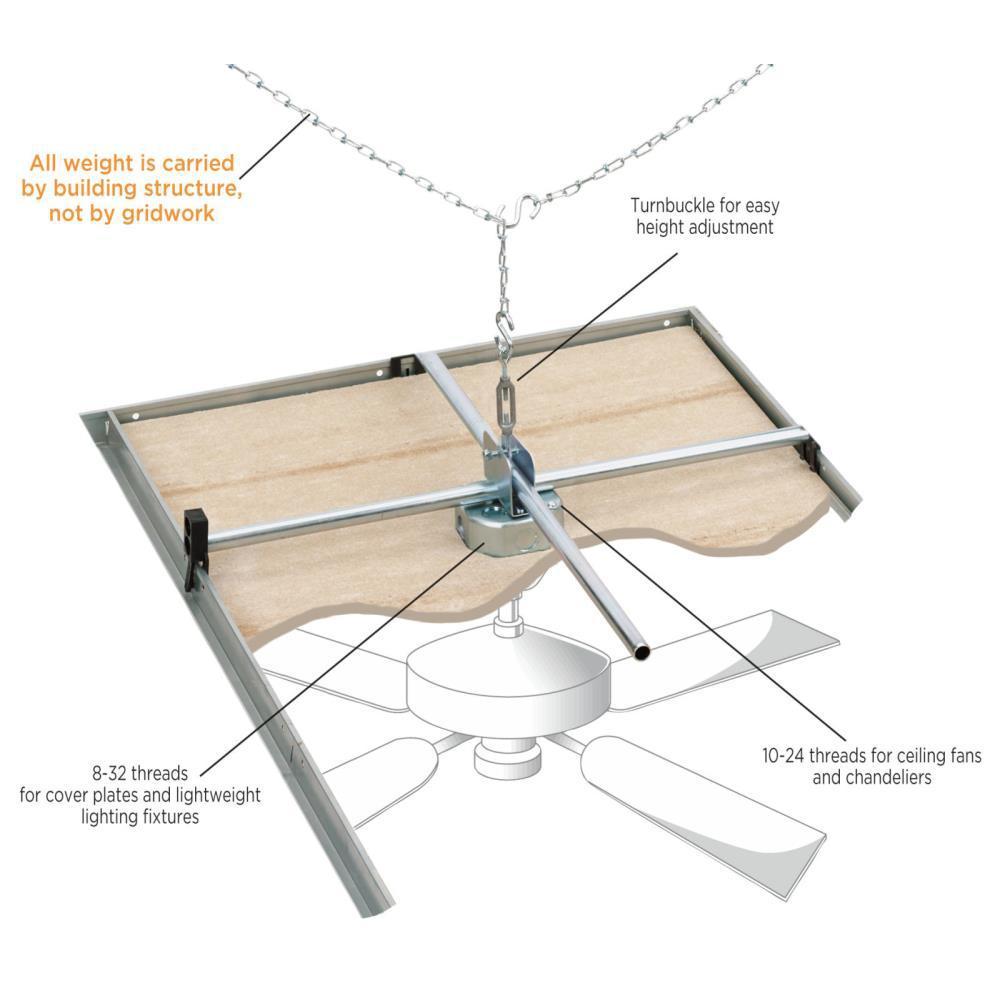 Ceiling Fan Saf T Grid Support Brace