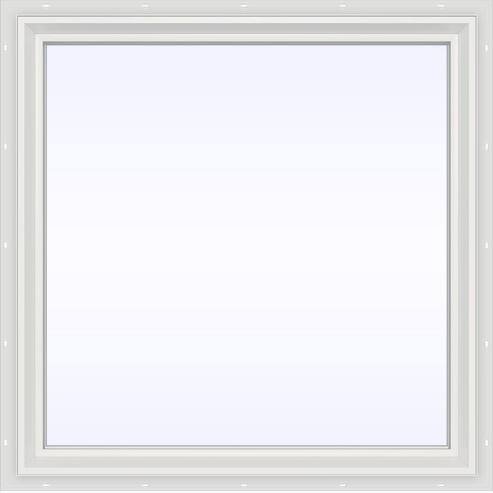JELD-WEN 35.5 in. x 35.5 in. V-2500 Series Fixed Picture Vinyl Window - White