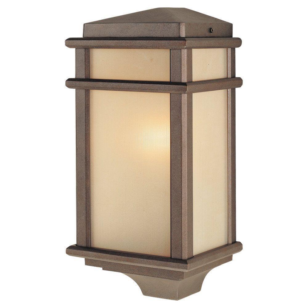 Mission Lodge 1-Light Corinthian Bronze Outdoor Wall Lantern