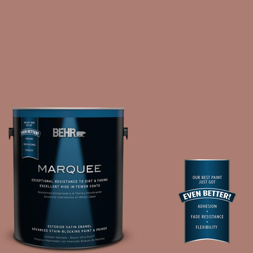 BEHR MARQUEE 1-gal. #PPU2-11 Mars Red Satin Enamel Exterior Paint