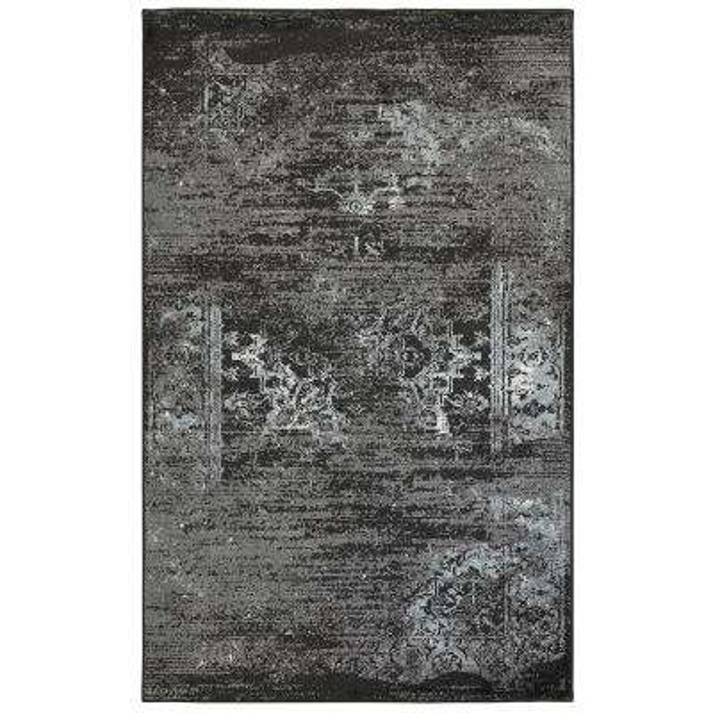 Matrix Jet Black/Titanium Rectangle 5 ft. 2 in. x 7 ft. 2 in. Area Rug