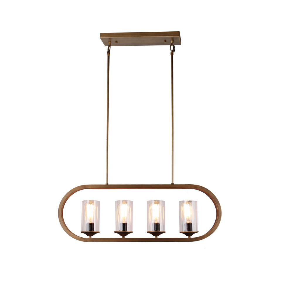 Y Decor 4-Light Candle-Style Iron Frame Chandelier in Antique Bronze ...