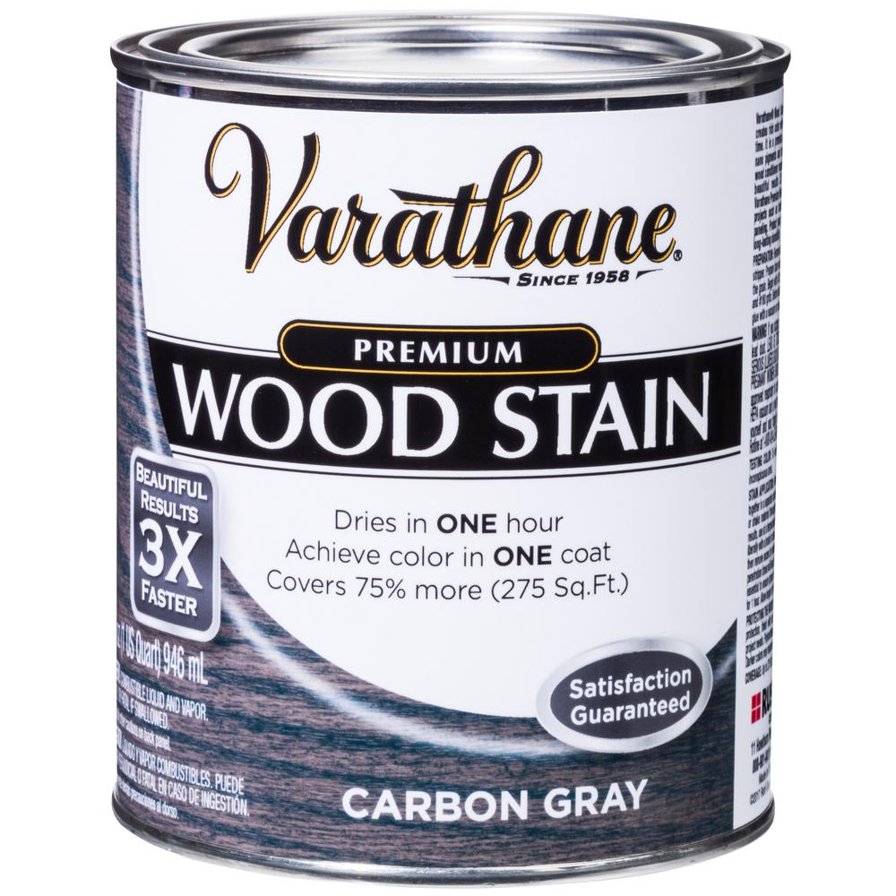 1 qt. Carbon Gray Premium Fast Dry Interior Wood Stain (2-Pack)