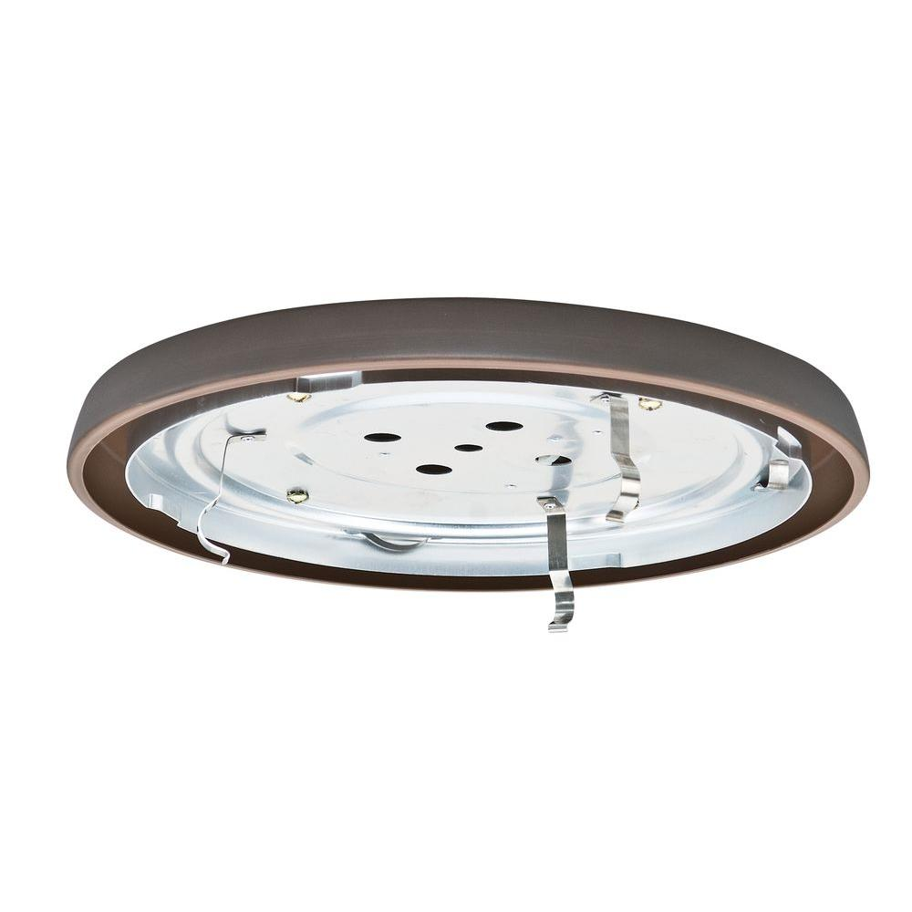 Casablanca 2.25 in. Brushed Cocoa Bronze Circle CFL Low Profile Fan Fitter