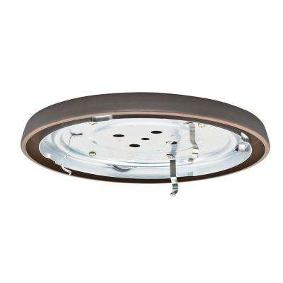 2.25 in. Brushed Cocoa Bronze Circle CFL Low Profile Fan Fitter