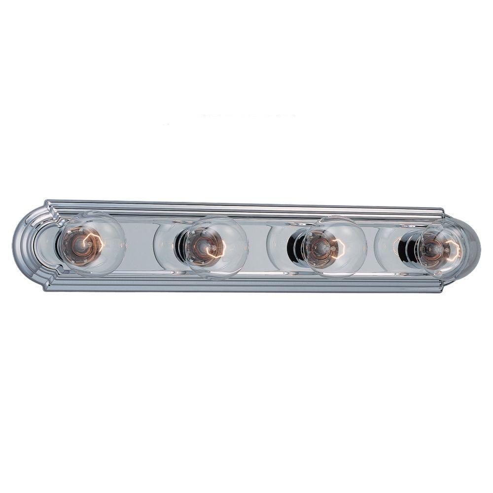 De-Lovely 4-Light Chrome Vanity Bar Light