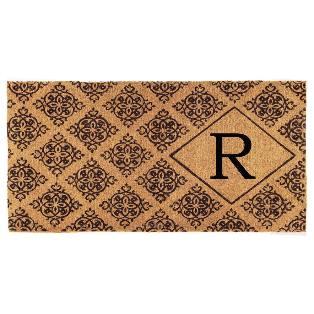 Monogram R Door Mat