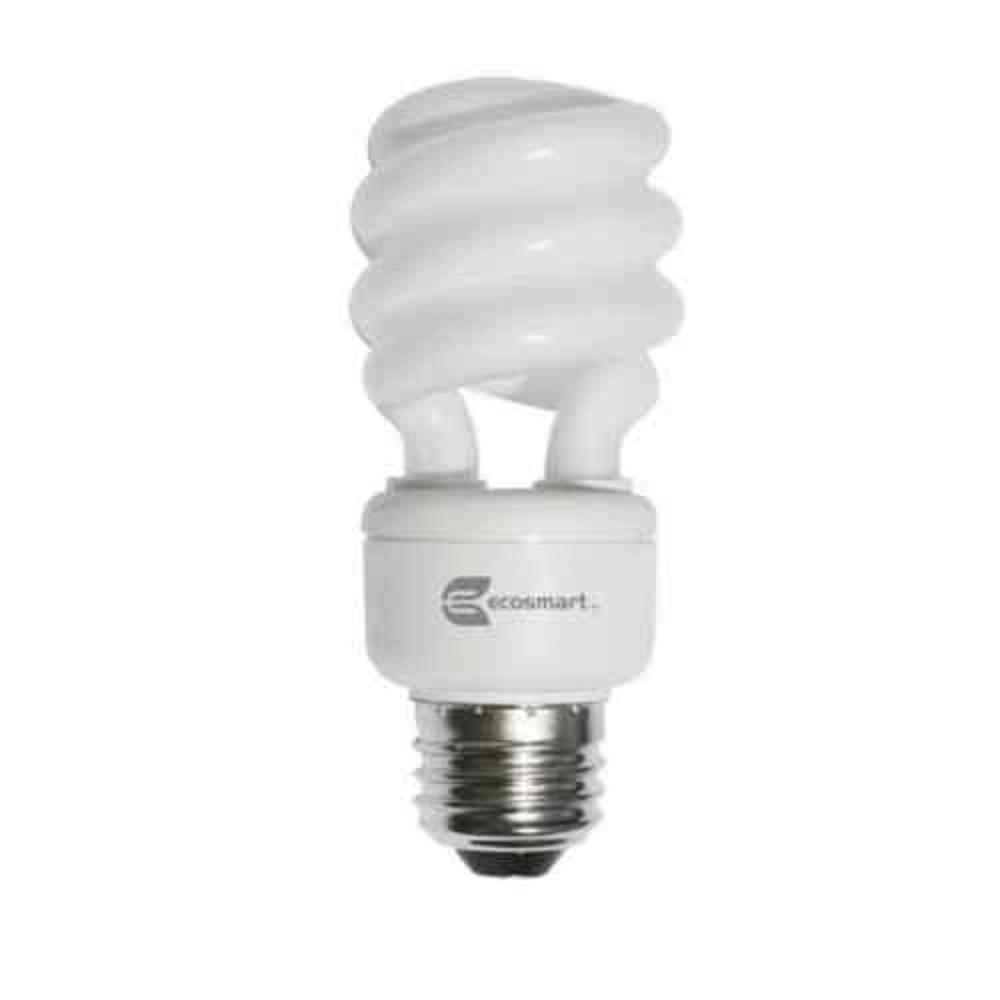 Candelabra cfl bulbs light bulbs the home depot 60w equivalent soft white trudim spiral dimmable cfl light bulb 2 pack arubaitofo Image collections