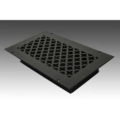 12 in. x 6 in. Black Poweder Coat Steel Wall Ceiling Vent with Opposed Blade Damper