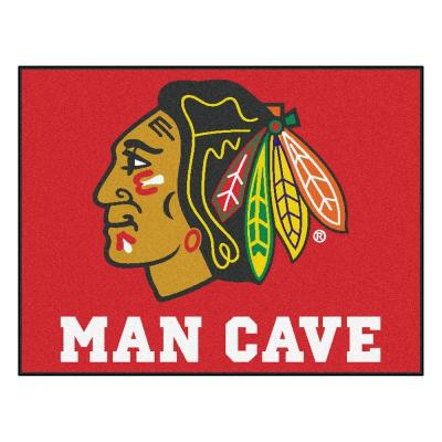 Chicago Blackhawks Red Man Cave 3 ft. x 4 ft. Area Rug