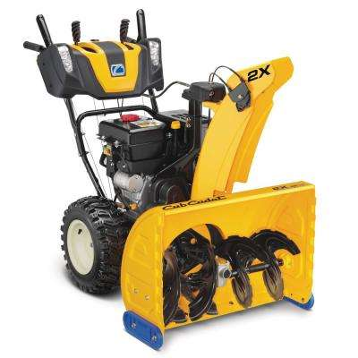 28 in. 272cc Two-Stage Electric Start Gas Snow Blower with Power Steering and Steel Chute