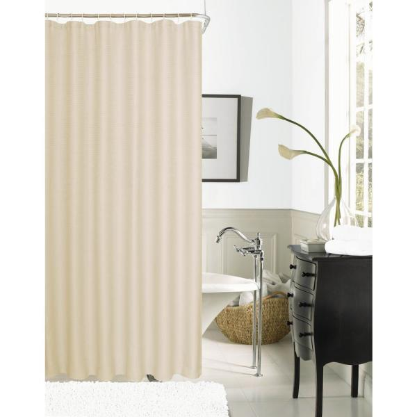 Dainty Home Hotel Collection Waffle 72 in. Peach Shower Curtain HCOWSCPE