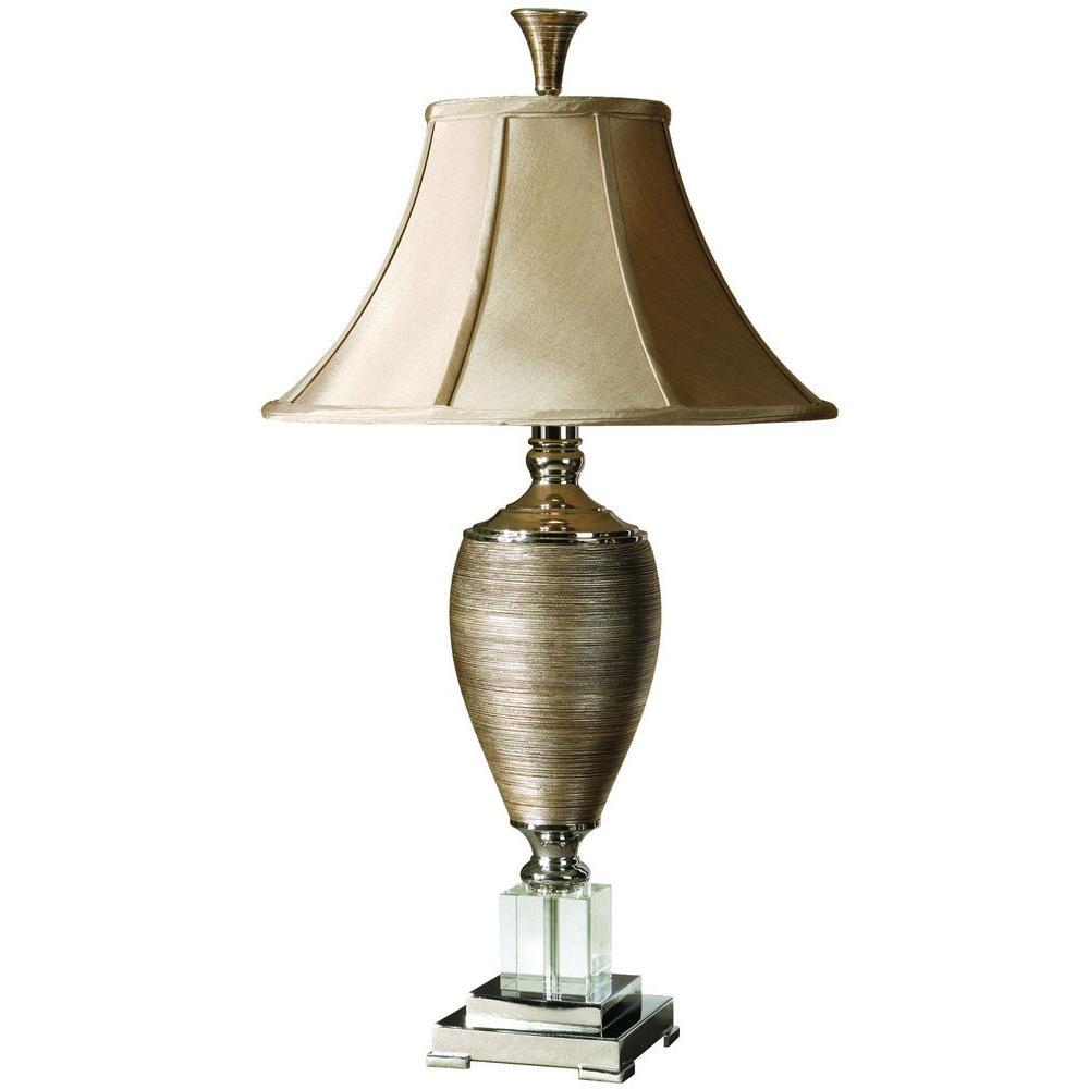 32.5 in. Metallic-Gold Table Lamp