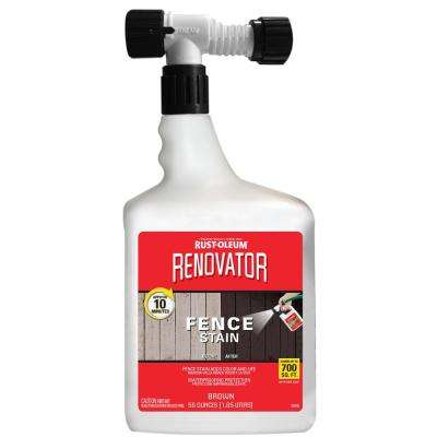 56 oz. Saddle Brown Renovator Fence Stain (4-Pack)