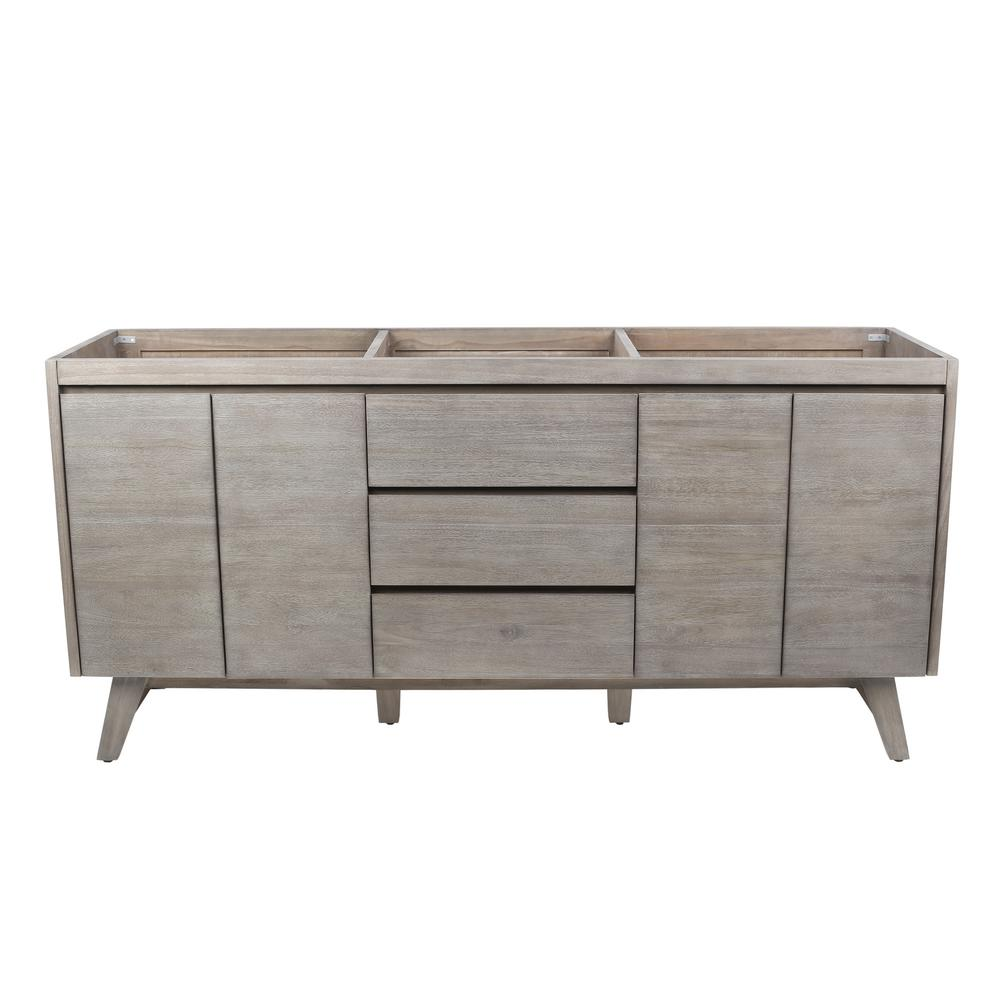 Coventry 72 in. Vanity Cabinet Only in Gray Teak