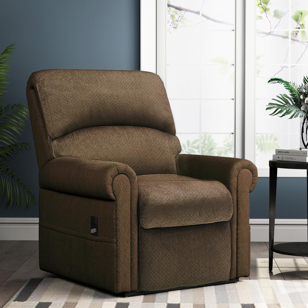 Merax Brown Gel Memory Foam Power Lift Recliner Chair W21101684