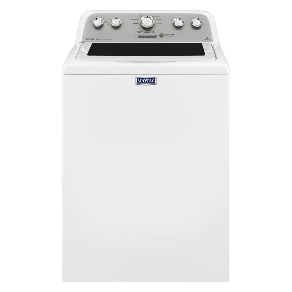 maytag 4 3 cu ft high efficiency white top load washing machine rh homedepot com