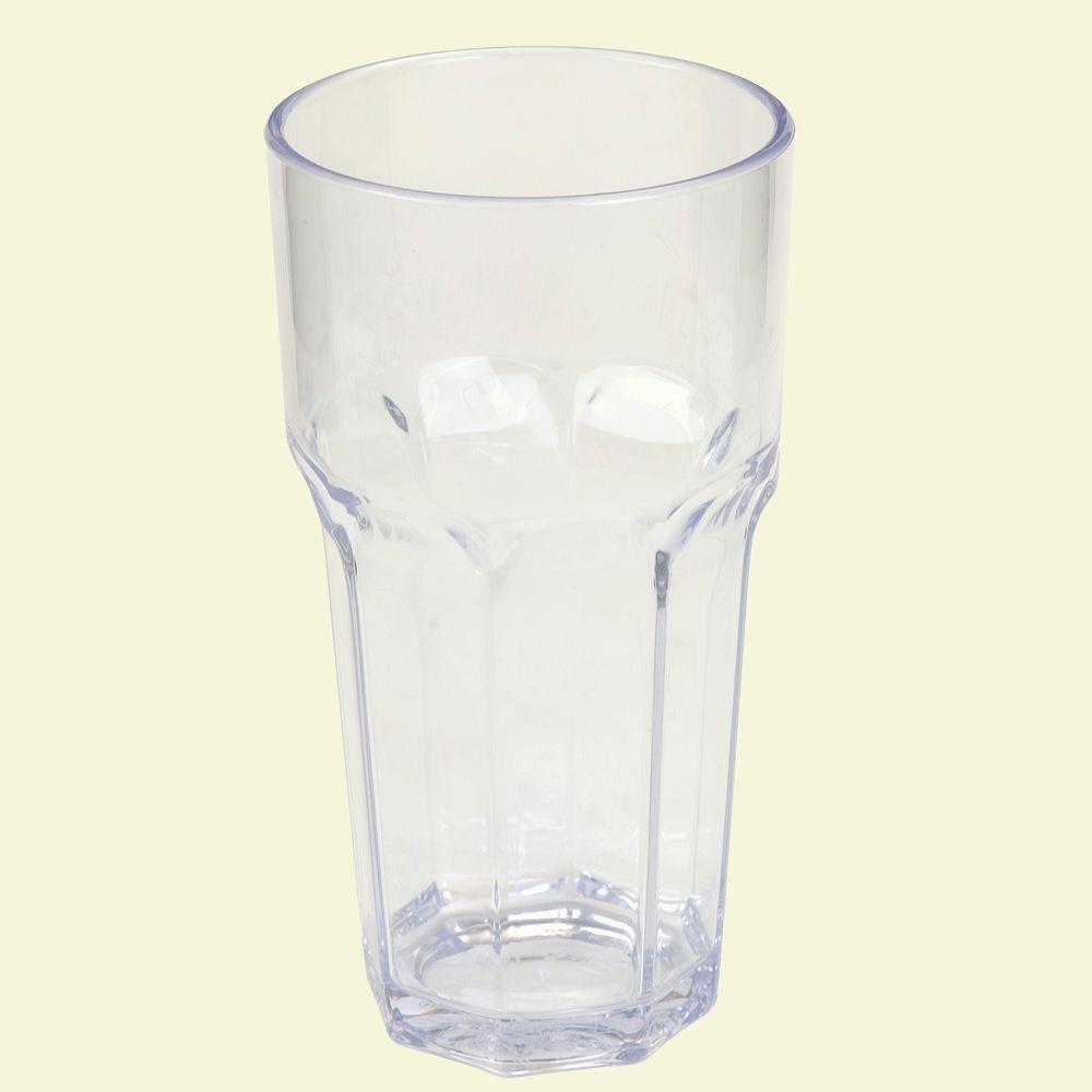 18 oz. SAN Plastic Clear Tumbler (Case of 24)