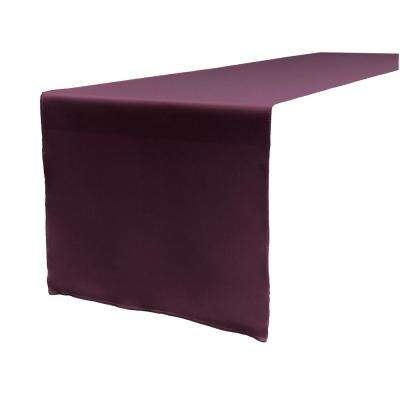 14 in. x 108 in. Eggplant Polyester Poplin Table Runner