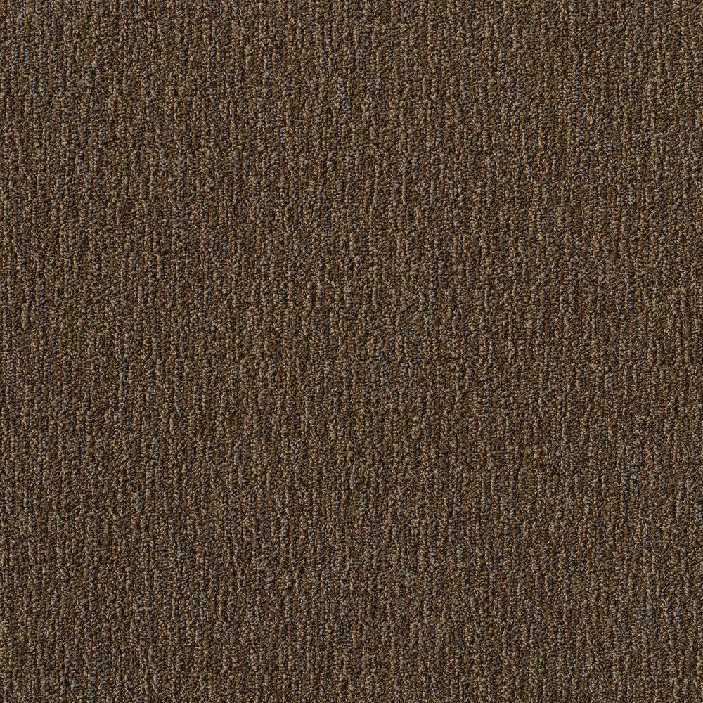 Invision Fabricator Brown Loop 24 in. x 24 in. Modular Carpet Tile Kit (18 Tiles/Case)