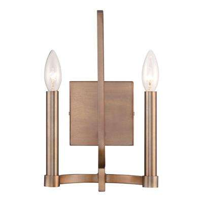 Cantu Collection 2-Light Gold Wall Sconce