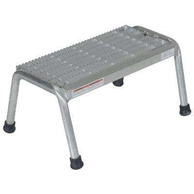 1-Step Aluminum Step Stand - Welded