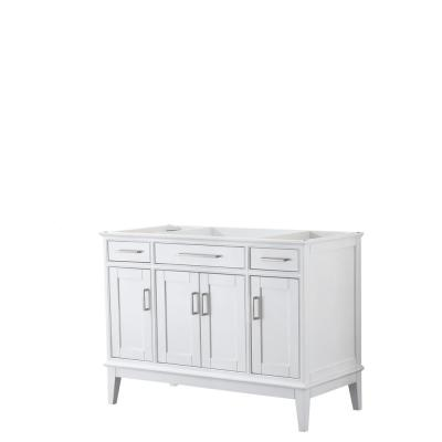 Margate 47 in. W x 21.5 in. D Bath Vanity Cabinet Only in White